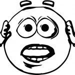 Haste Emoticon Emology Smiley Coloring Page
