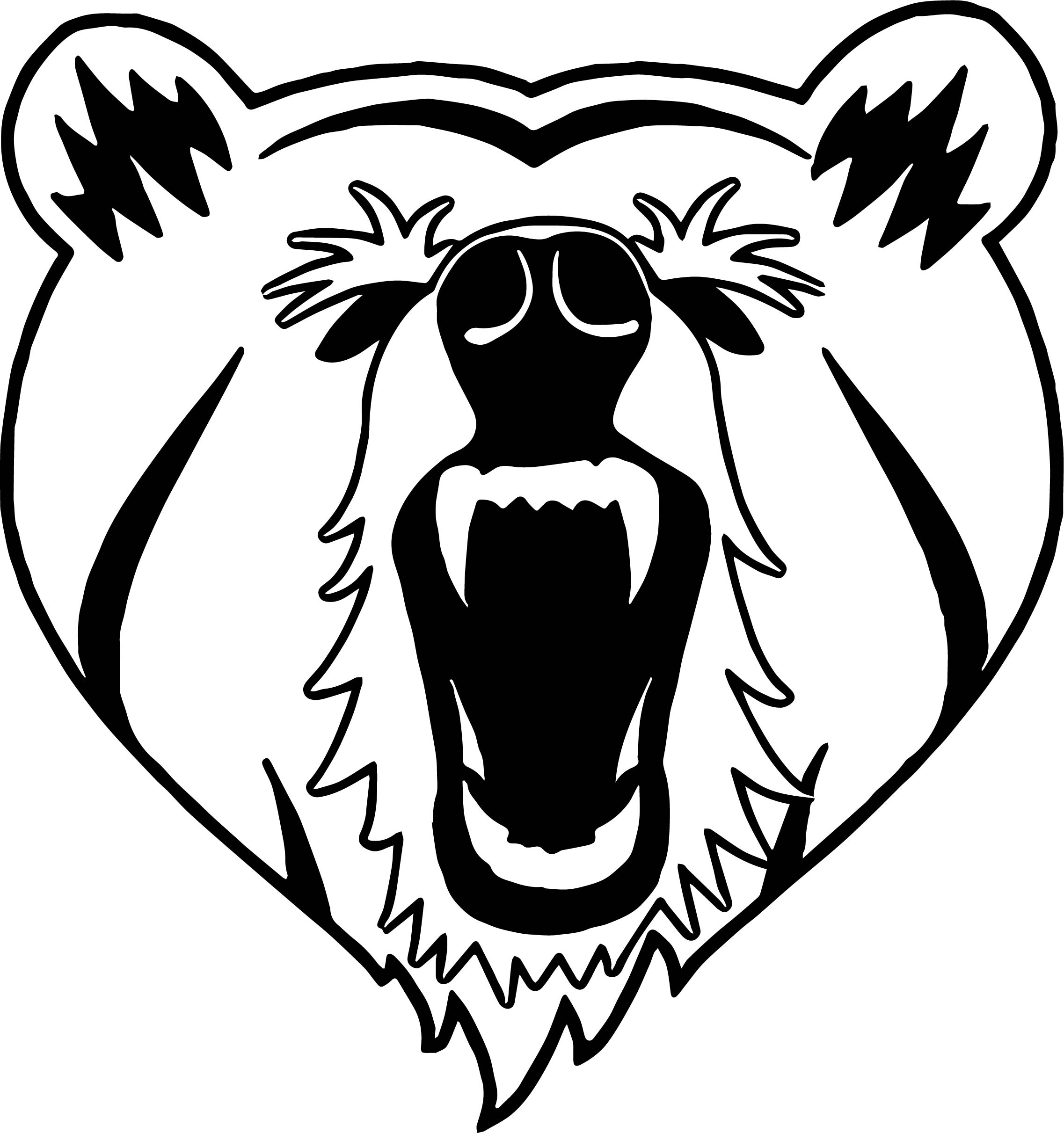 Hipster Bear Face Coloring Pages