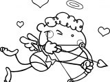 Heart Cupido Coloring Page