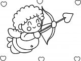 Hearts Happy Cupido Coloring Page