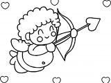 Hearts Happy Cupido Coloring Page