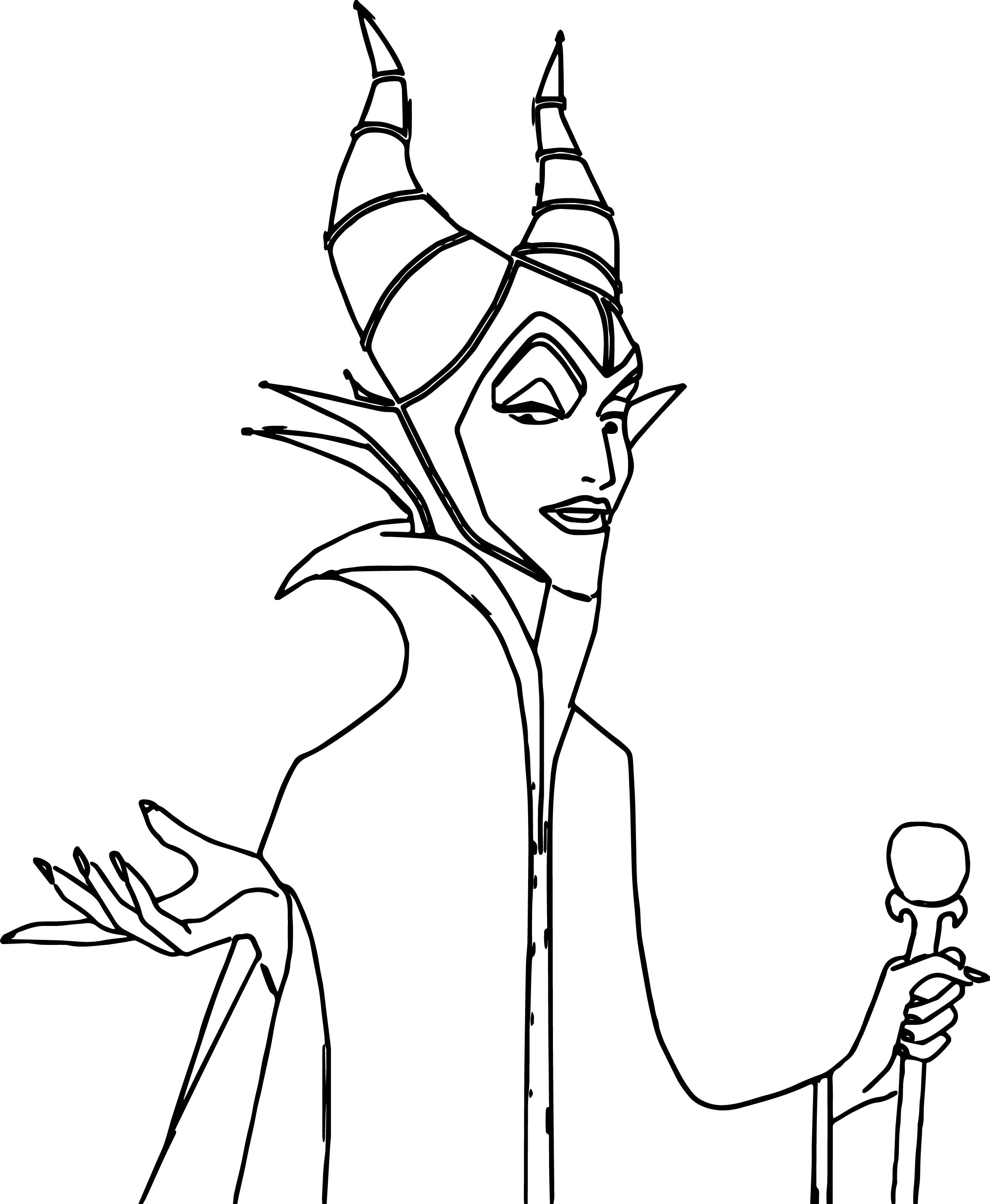 Hello Maleficent Coloring Page Wecoloringpage
