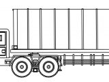 Industrial Truck Big Truck Side View Coloring Page