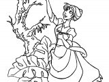 Jane Up Coloring Page