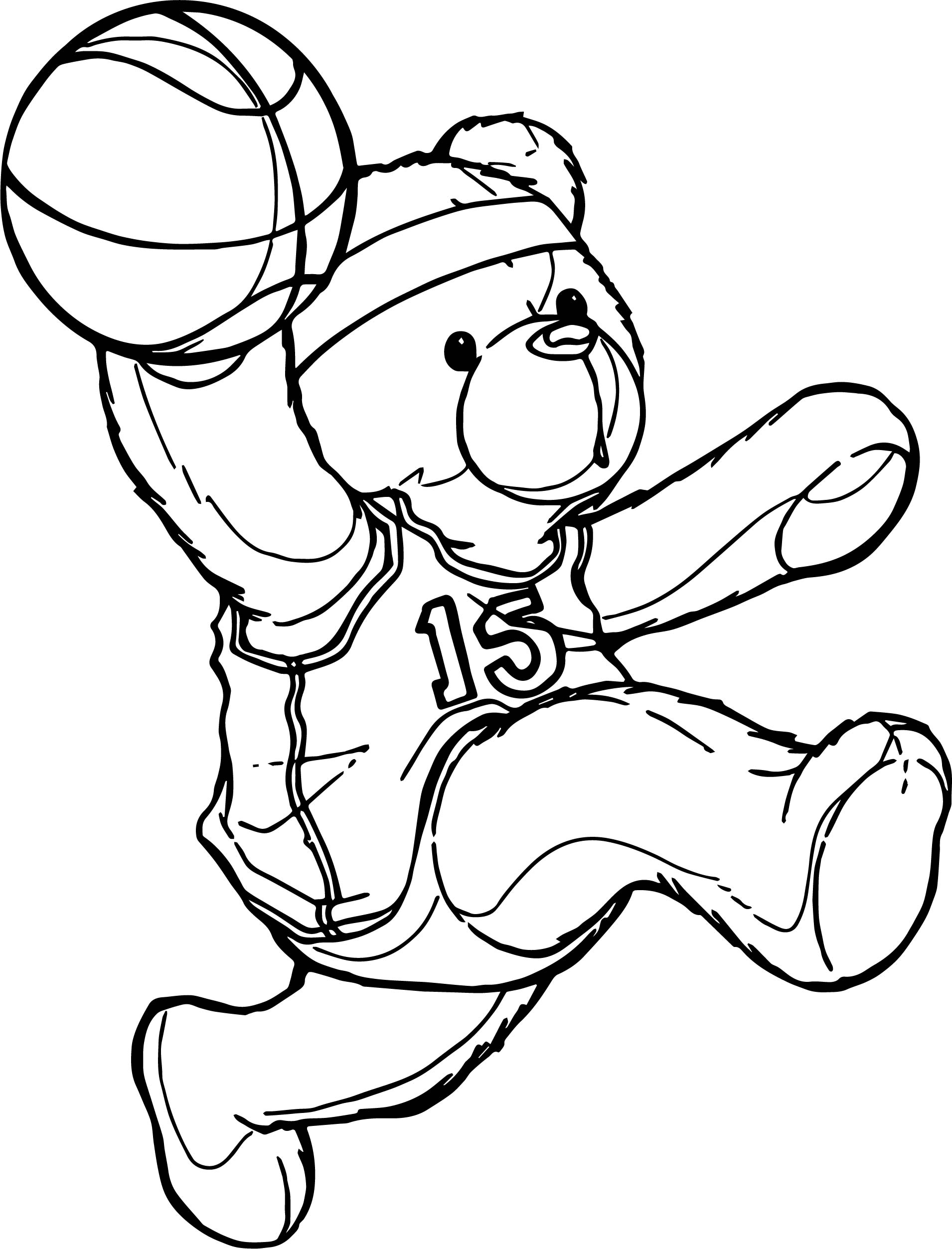 kid playing basketball coloring pages - photo#19