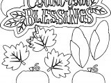 Large Count Your Blessings Coloring Page