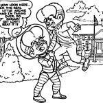 Little Archie Fight Coloring Page