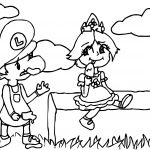 Luigi Daisy Ice Cream Coloring Page