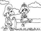 Luigi Daisy Ice Cream Coloring Page