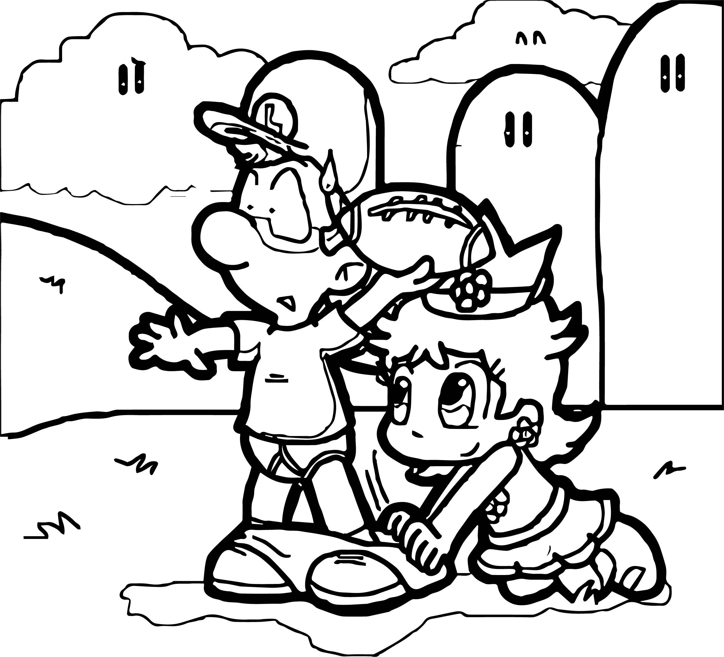 Luigi Daisy Joke Coloring Page