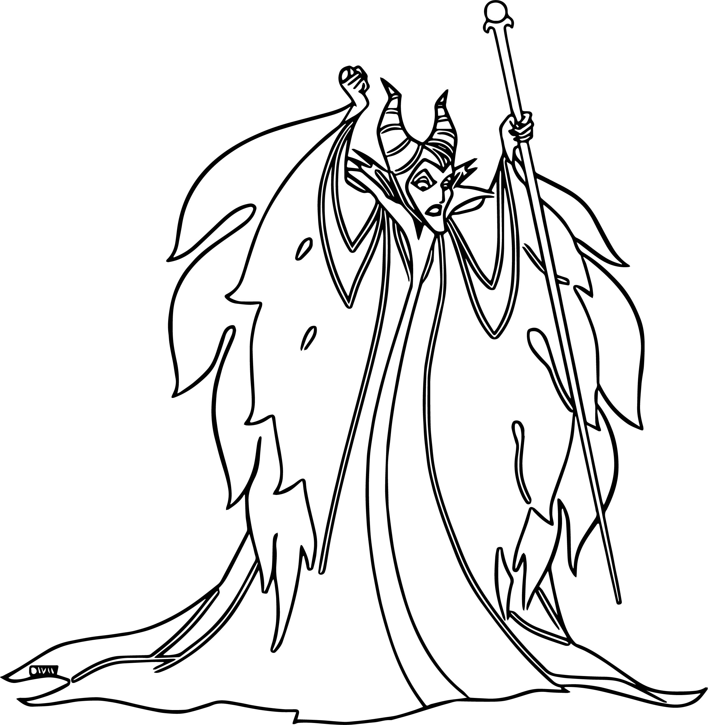 Maleficent Angry Coloring Page | Wecoloringpage