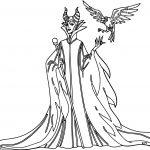 Maleficent Come Diablo Coloring Page