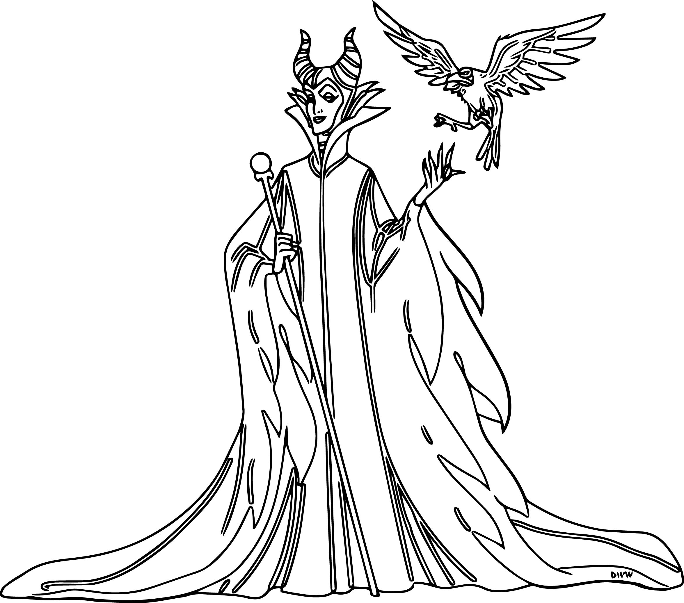 Maleficent Come Diablo Coloring Page