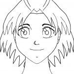 Manga Face Coloring Page