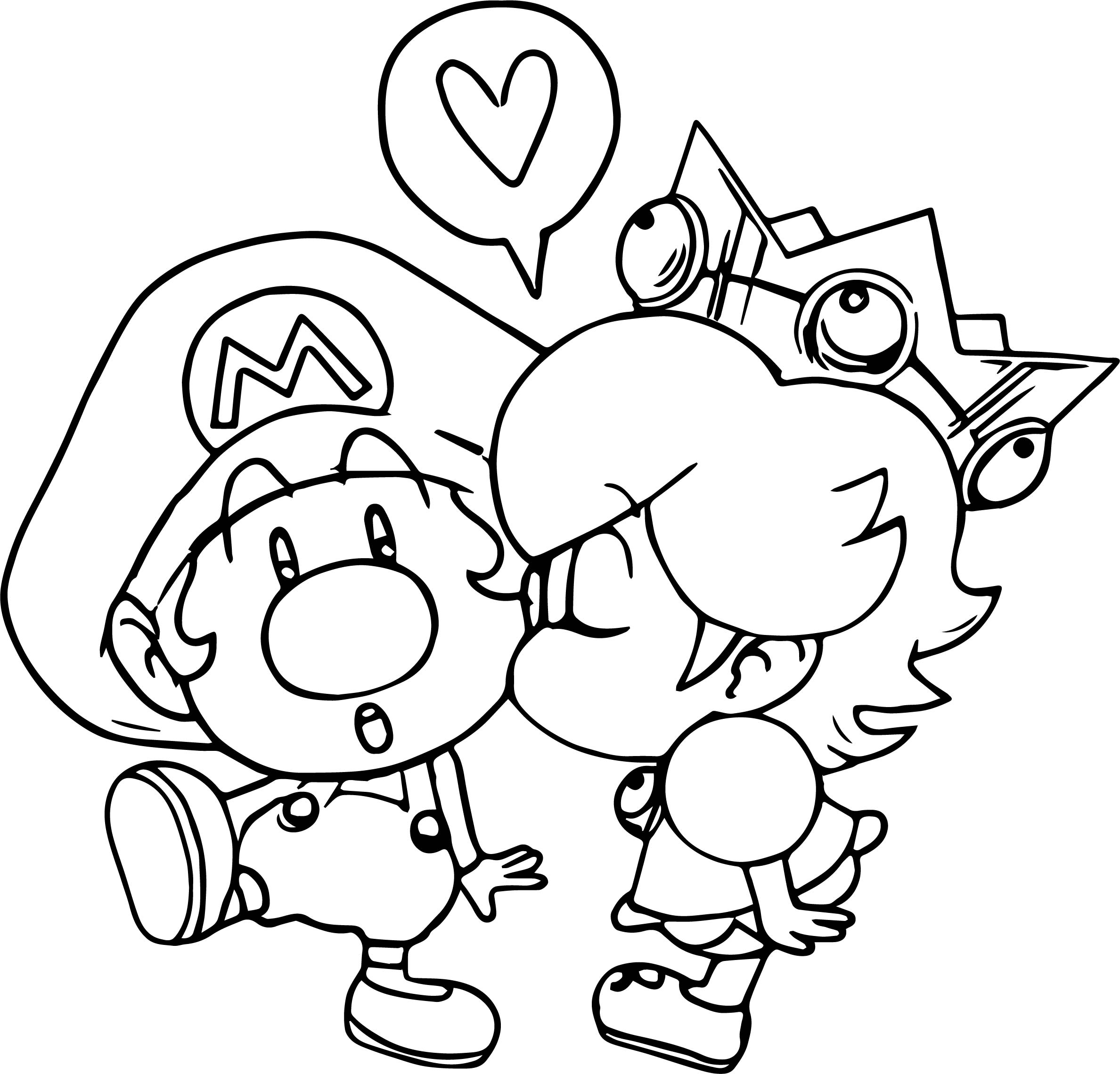 Mario And Daisy Coloring Page
