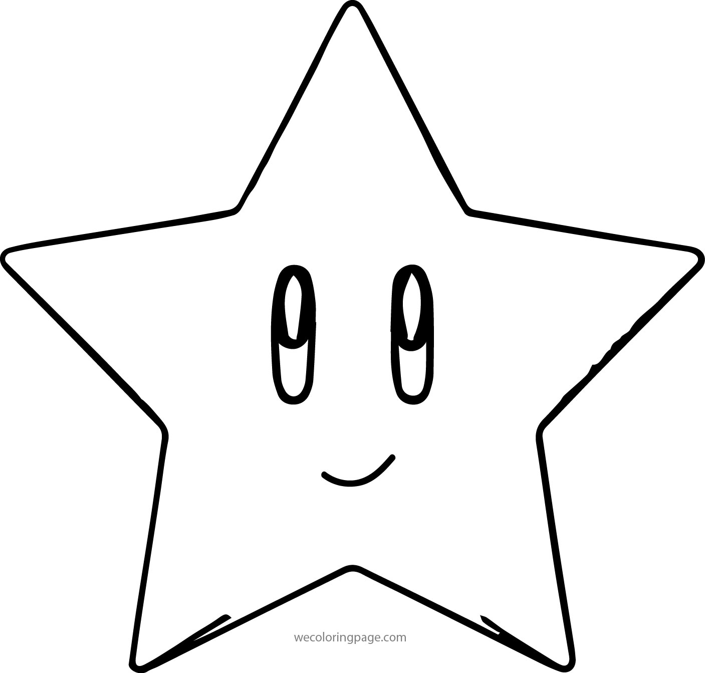 star coloring pages - mario star coloring pages