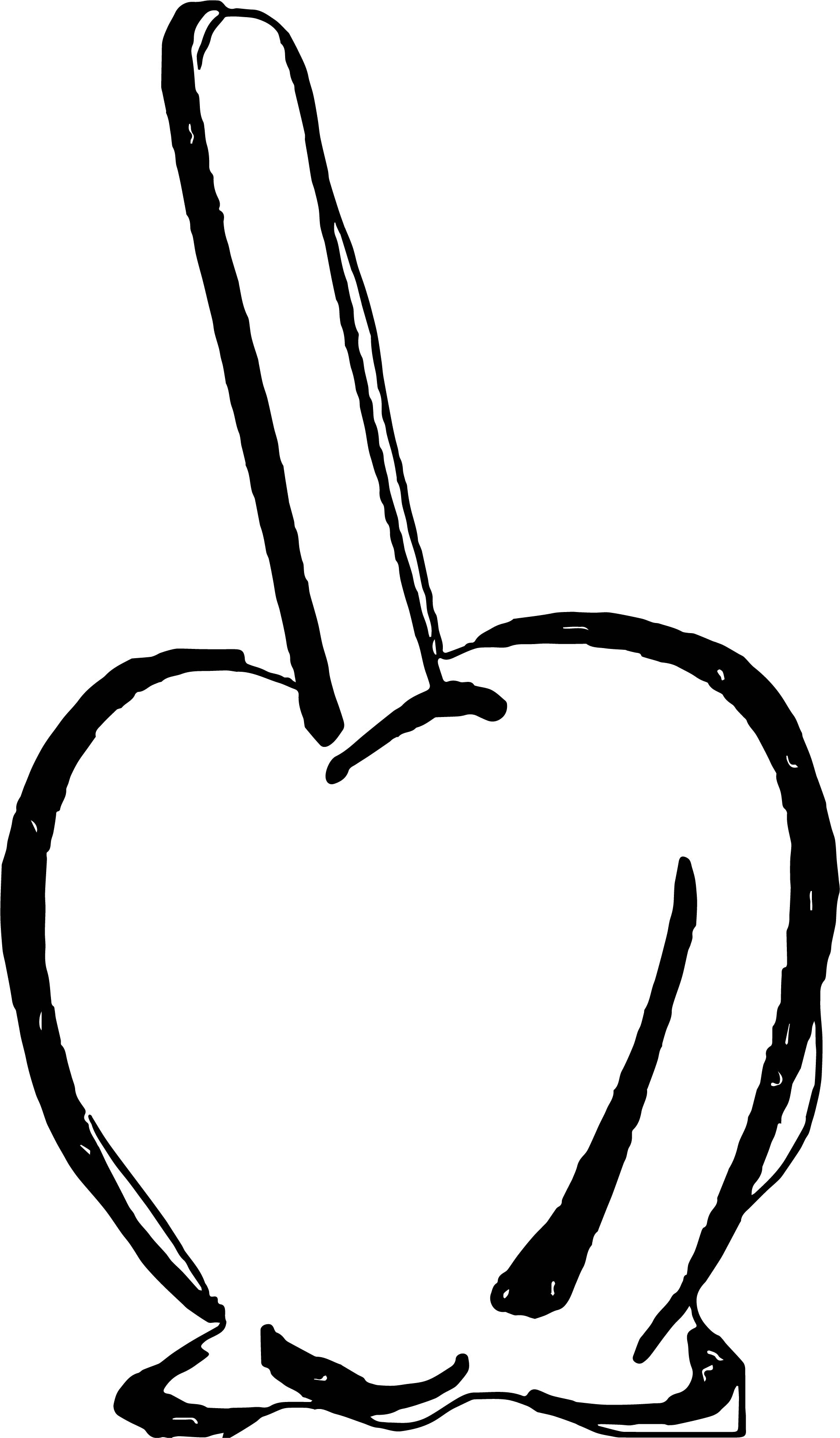 Melt Apple Coloring Page