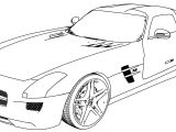 Mercedes Benz Sls Amg 2011 Coloring Page