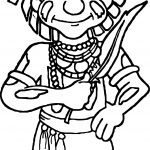 Na Sw Hopi Snake Priest Coloring Page