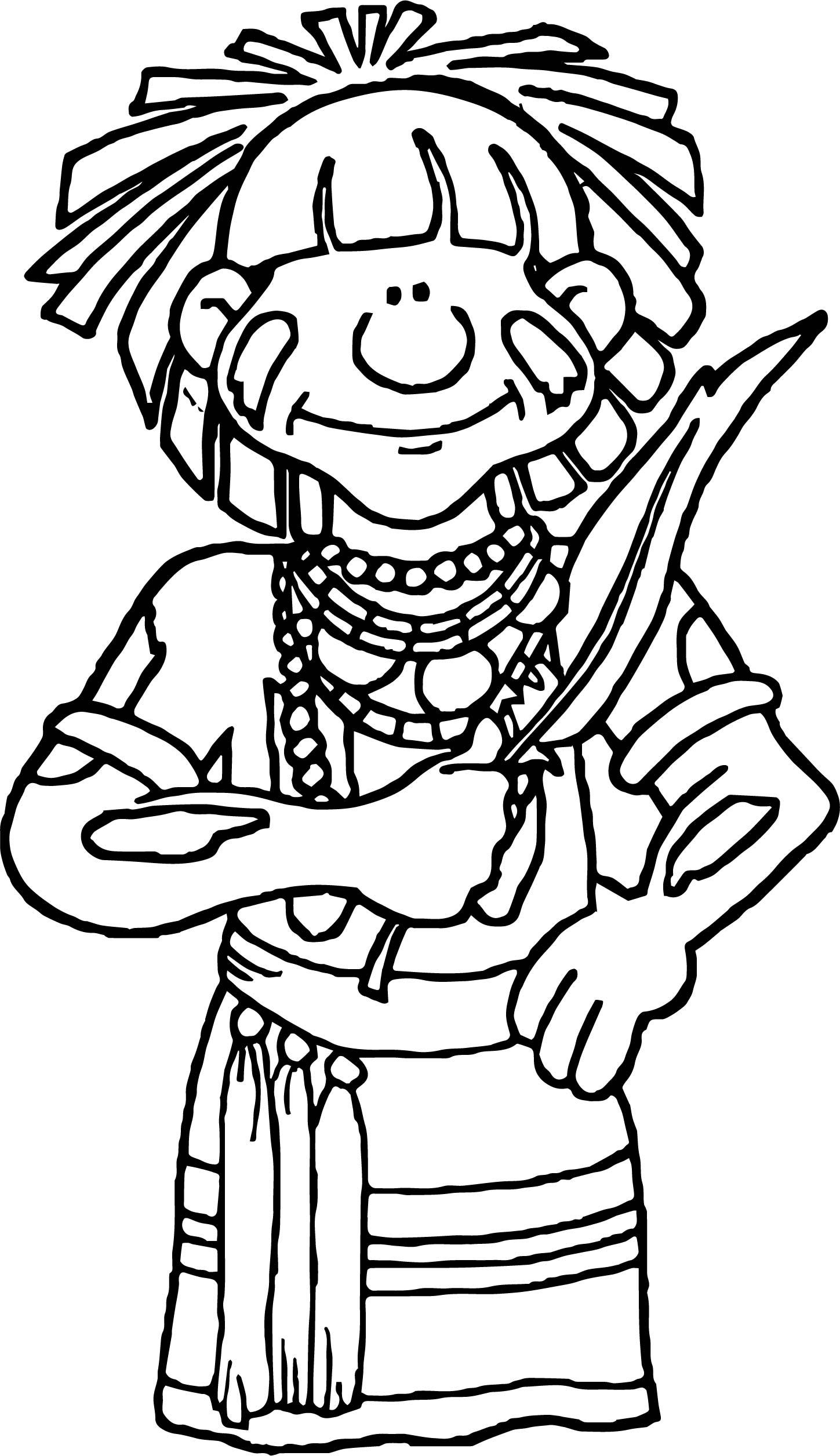 Na Sw Hopi Snake Priest Coloring Page