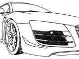 Near Audi Car Coloring Page