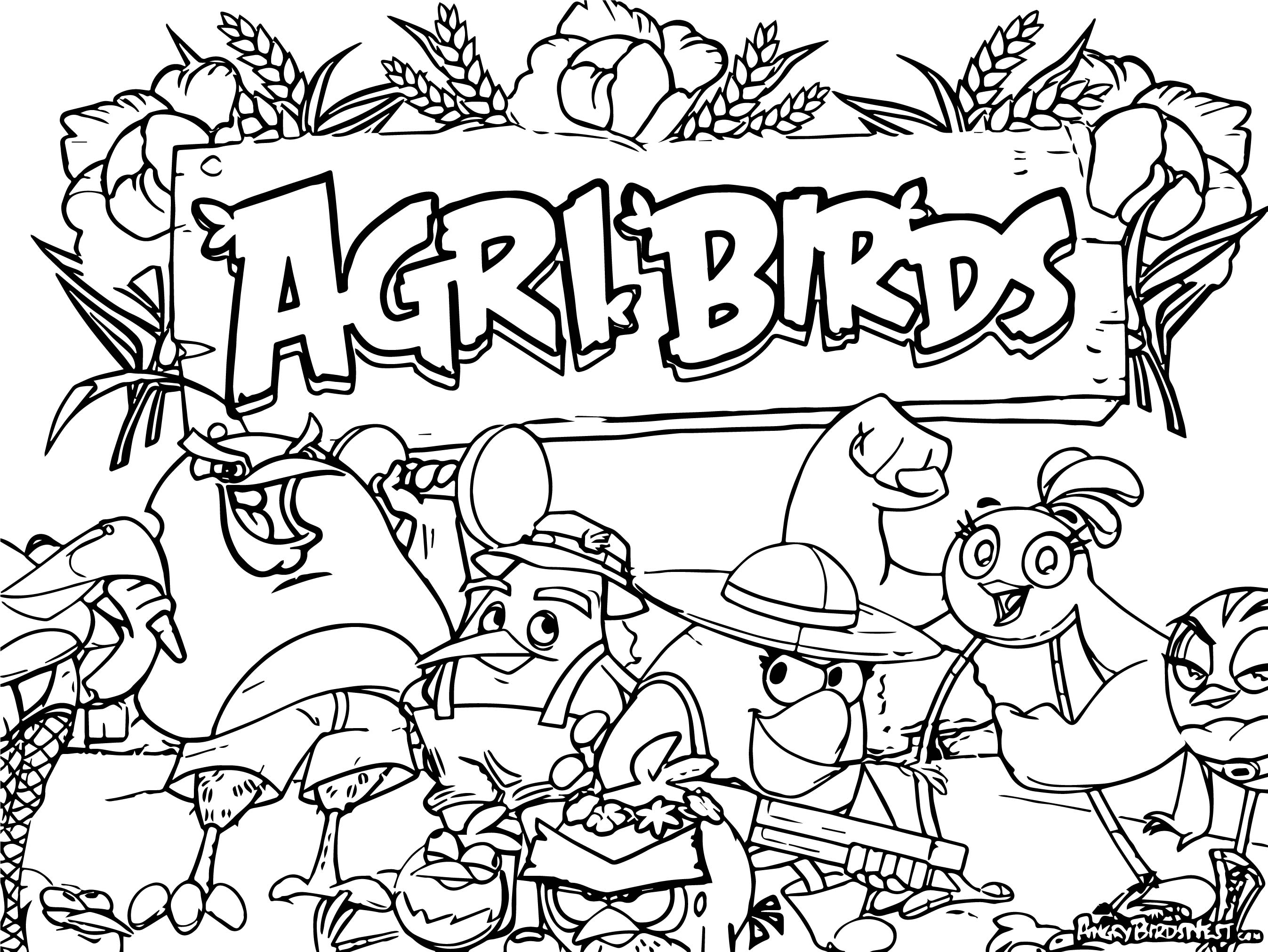 Game Angry Birds Coloring Pages Trex Coloring Pages