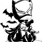 Night Small Batman Coloring Page