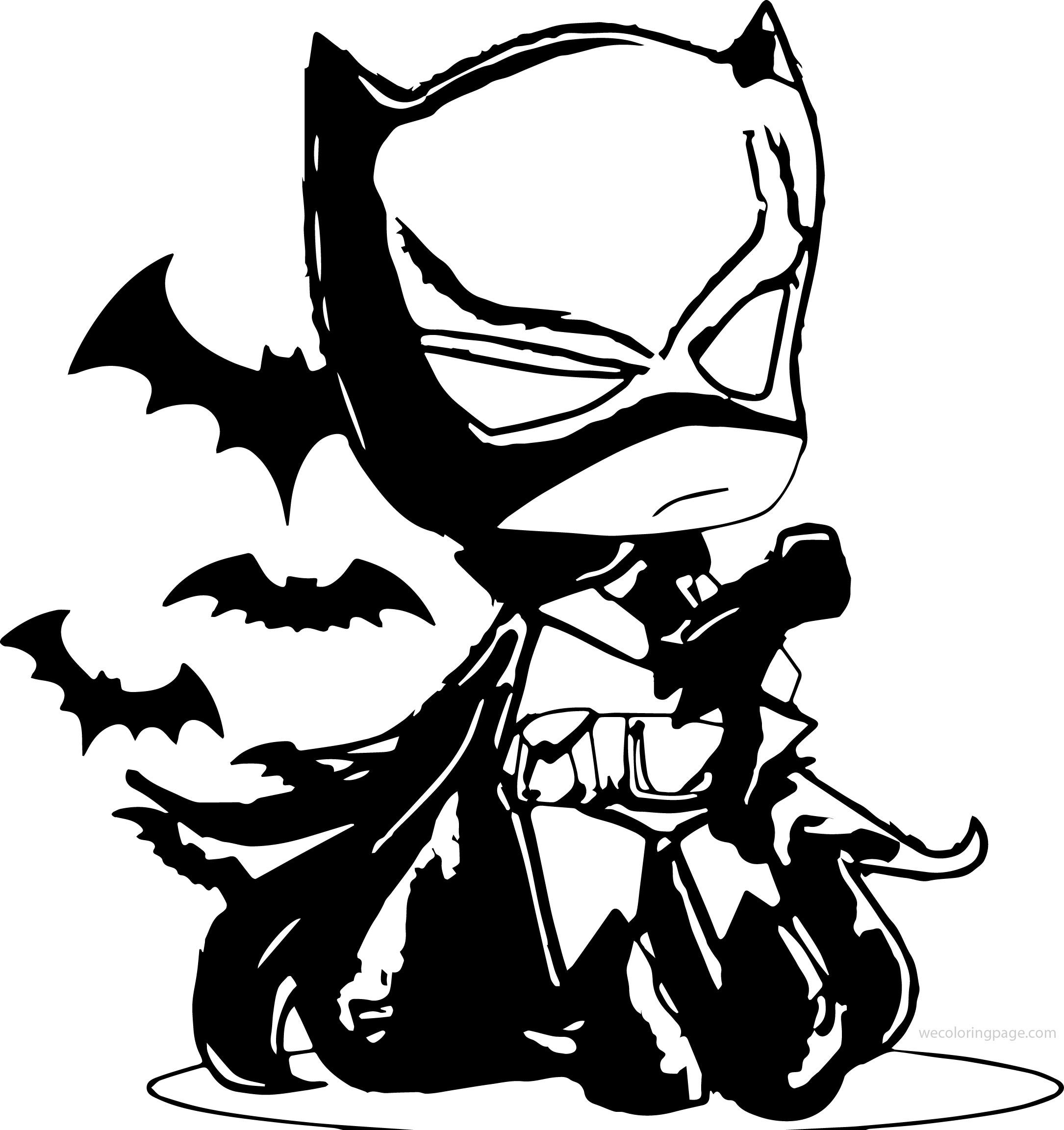 Night Small Batman Coloring Page