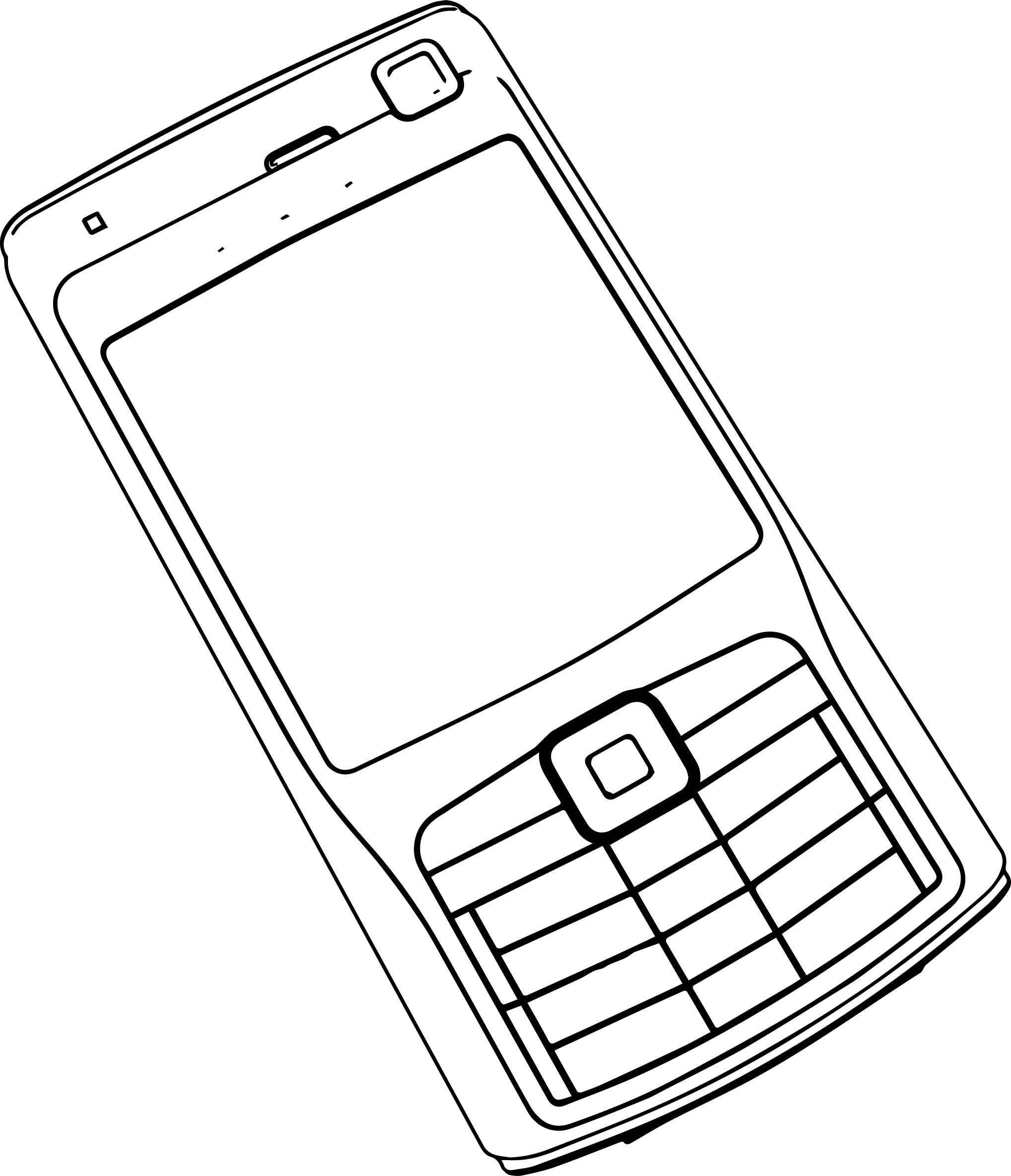 cell phone clip art outline sketch coloring page sketch With nokia cell phone