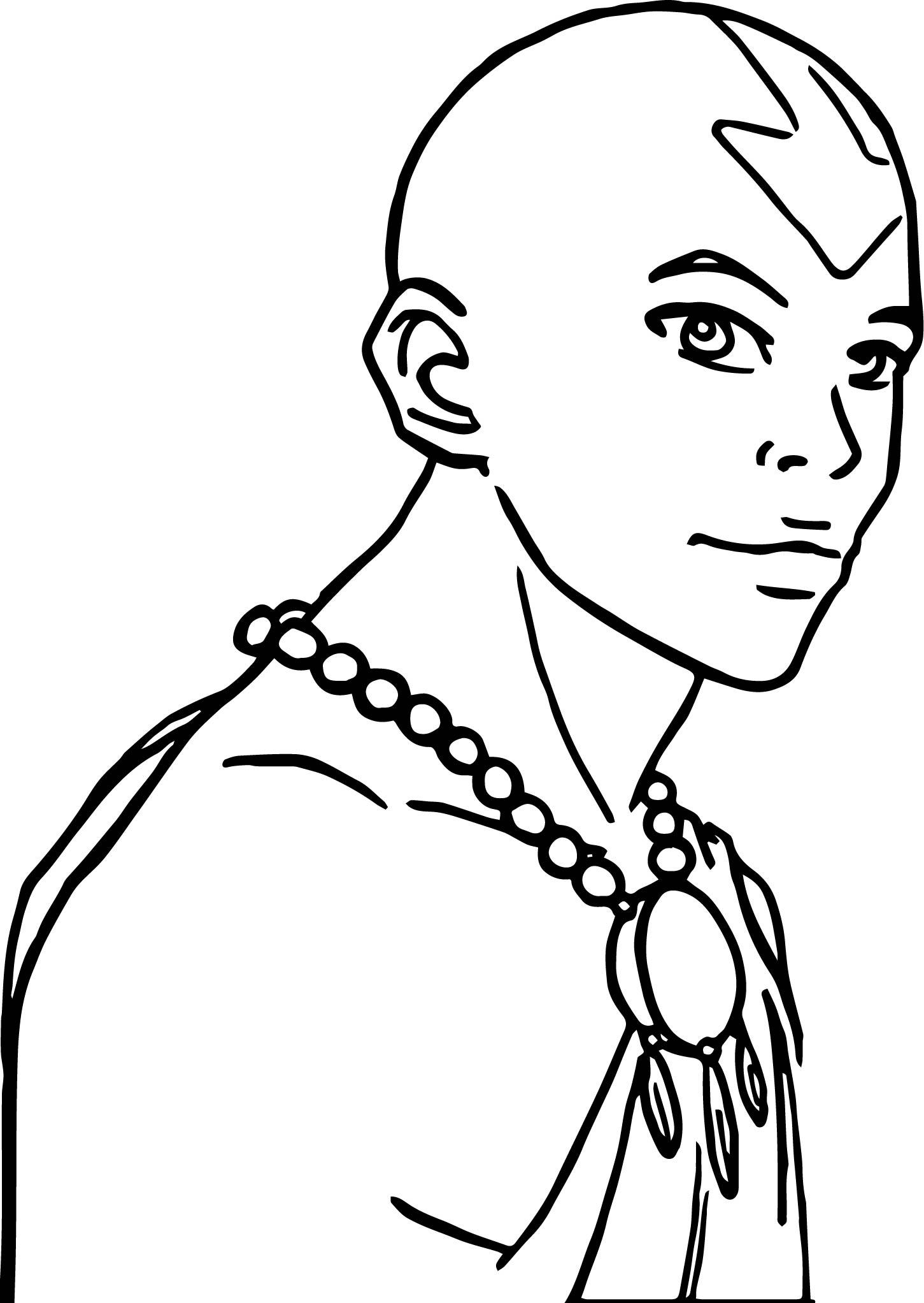 Older Aang Amiraink Avatar Aang Coloring Page