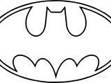 Outline Batman Logo Coloring Page
