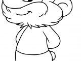 Papa Smurf Profile Smurfs Coloring Page