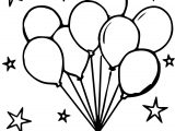 Party Balloons Stars Coloring Page