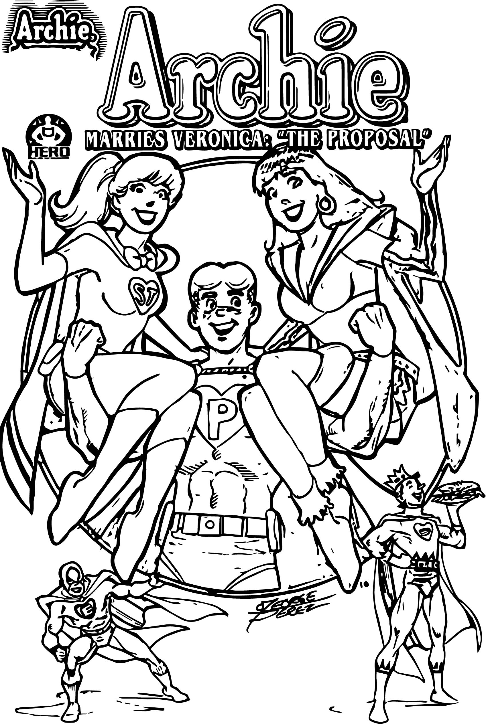 archie coloring pages - photo#19