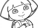 Photo Selfie Flexer Photo Dora Cartoon Coloring Page
