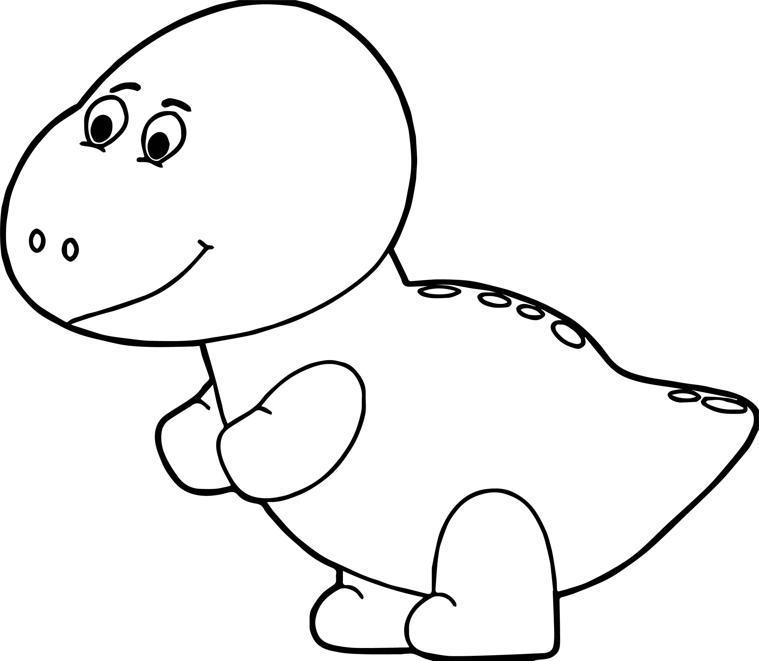 pink baby dinosaur coloring page