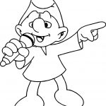 Rapper Smurf Coloring Page