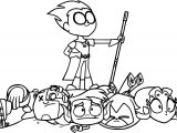 Robin Teen Titans Go Victorious Coloring Page
