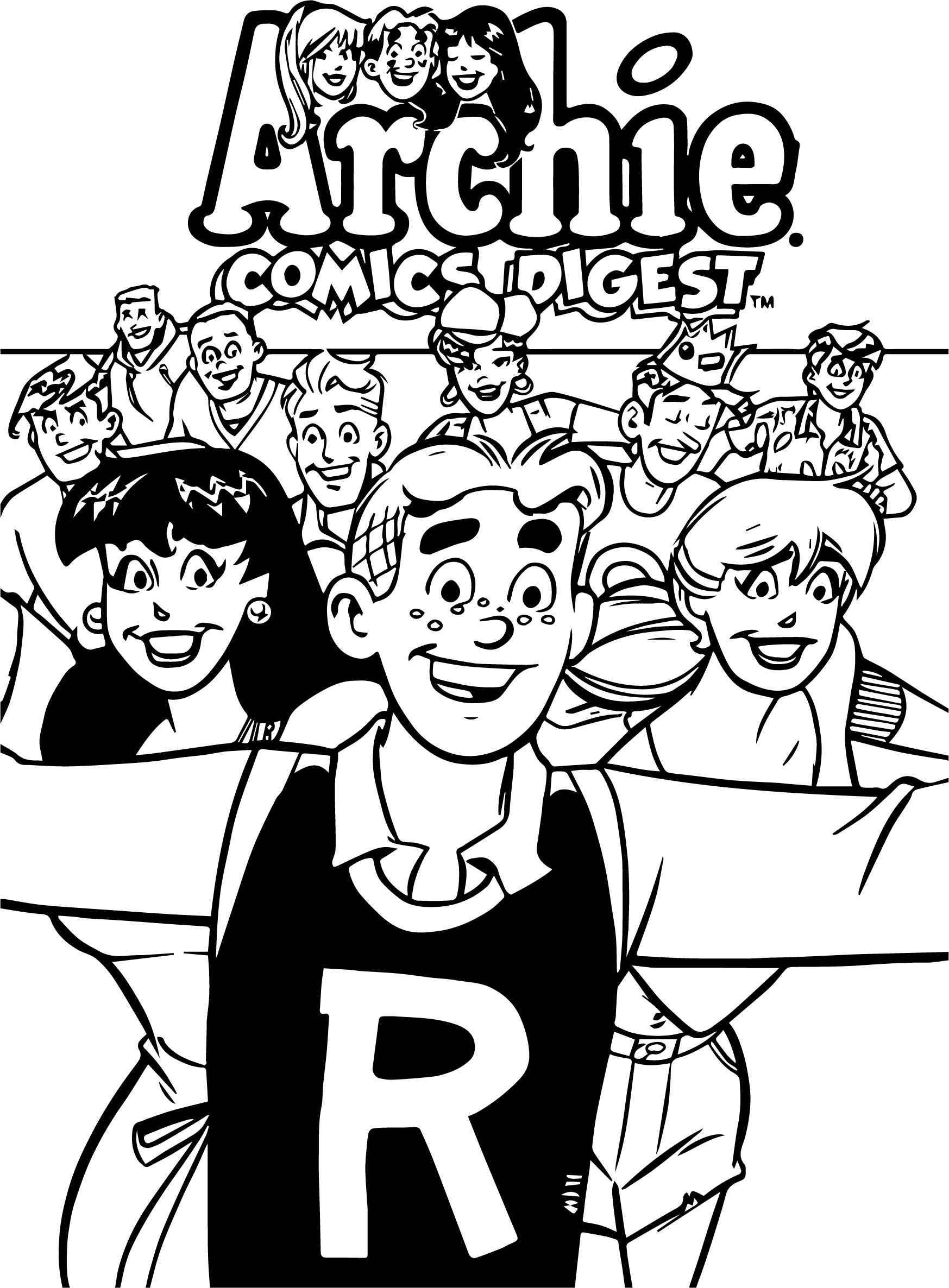 Running Archie Comics Coloring Page