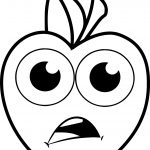 Sad Cartoon Apple Coloring Pages