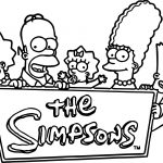 Simpsons Family Logo Coloring Page