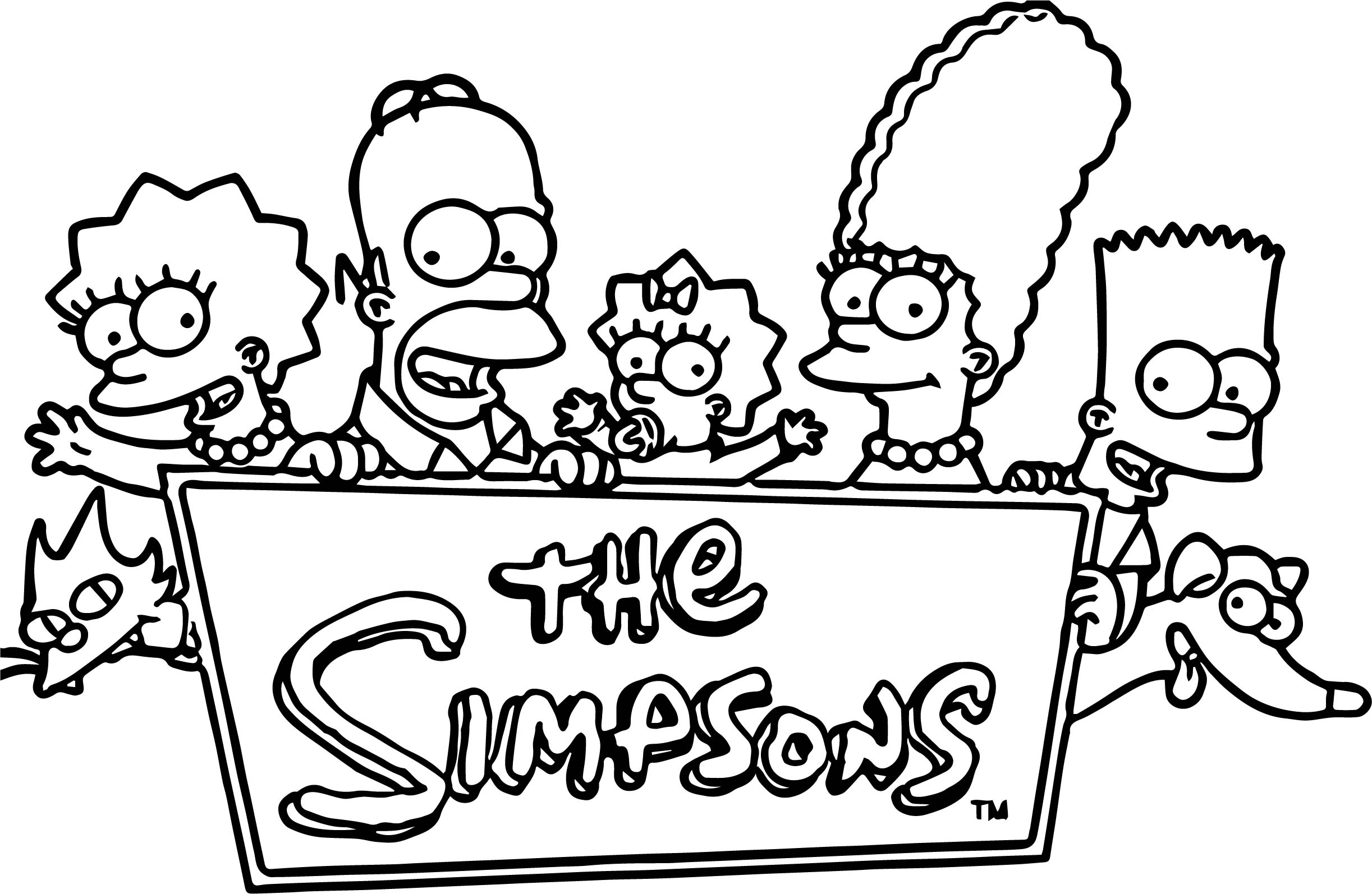 the simpsons coloring book pages - photo#39