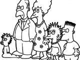 Simpsons On Tracey Ullman Coloring Page