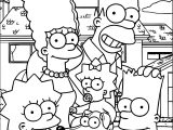 Simpsons Pic Coloring Page