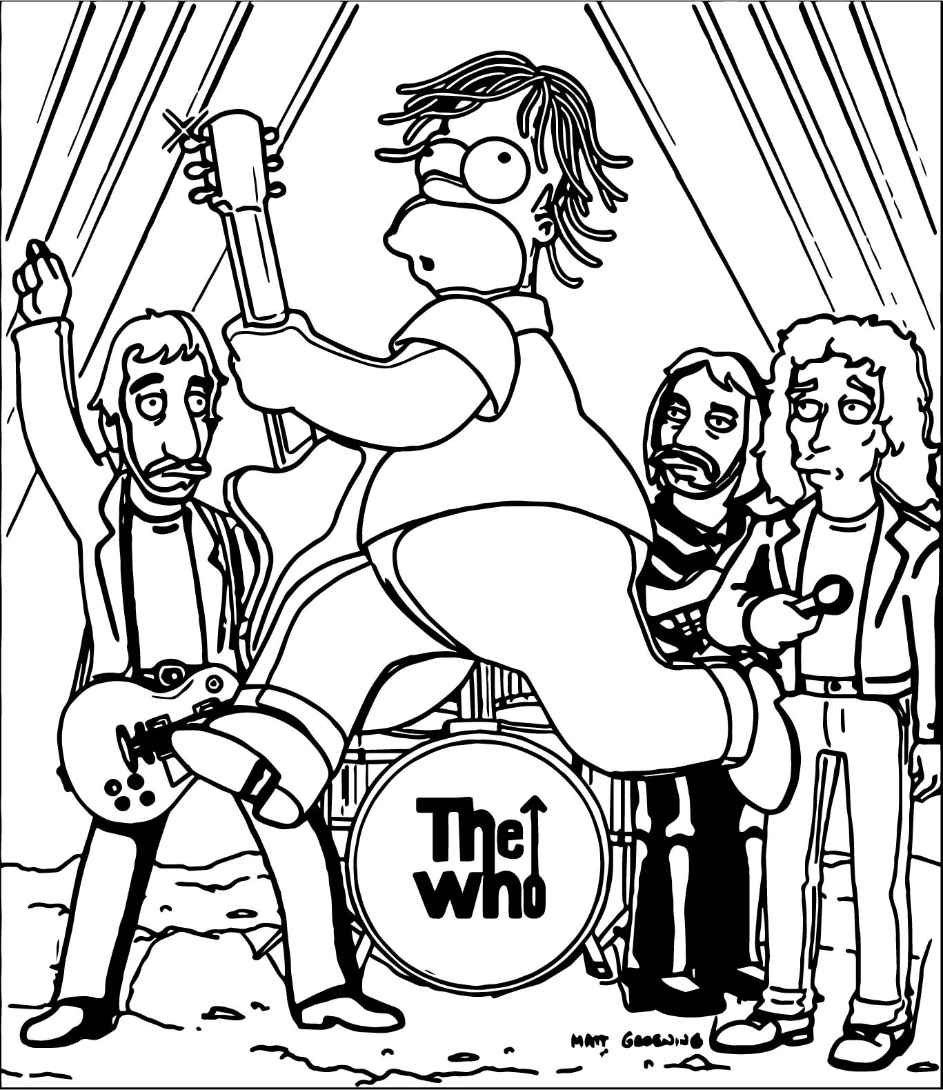 Simpsons Who Coloring Page