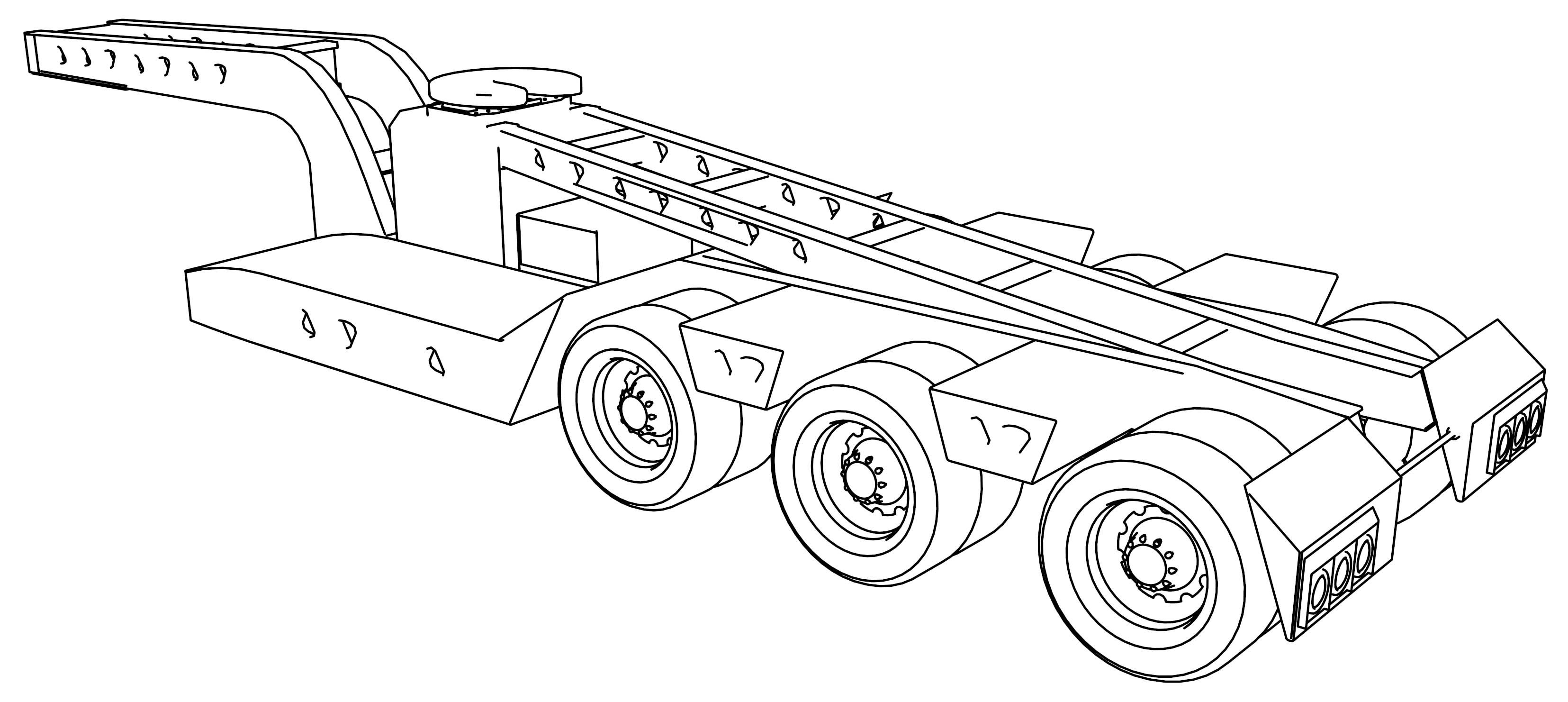six e trailers trailking coloring page