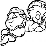 Sleep Baby Hercules And Baby Pegasus Coloring Pages