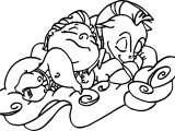 Sleep Baby Hercules And Cute Baby Pegasus Coloring Pages