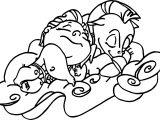 Sleep Baby Hercules And Cute Baby Pegasus Coloring Pages
