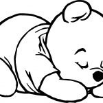Sleep Baby Pooh Coloring Pages